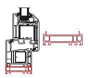 Rahmenverbreiterung für Türen der Stärke 70mm (20 x 70mm) (Flexible Türmontage)