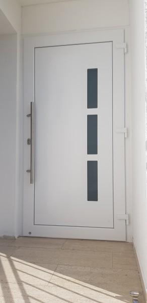 PVC-Haustuer-Nelly-RAL-9016-mit-Edelstahl-Stossgriff6mZz0ihllgkCF