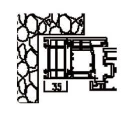 Rahmenverbreiterung für Türen der Stärke 60mm (25 x 60mm) (Flexible Türmontage)