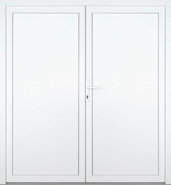 """Kunststoff Nebeneingangstür """"ANJA"""" 60mm 2-flügelig Doppeltür symmetrisch"""