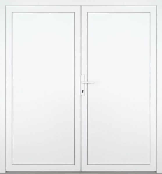 "Kunststoff-Aluminium Nebeneingangstür ""TONJA"" 70mm 2-flügelig Doppeltür symmetrisch"
