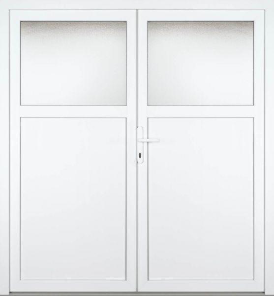 """Kunststoff Nebeneingangstür """"CAILIN 1/3"""" 70mm 2-flügelig Doppeltür symmetrisch"""