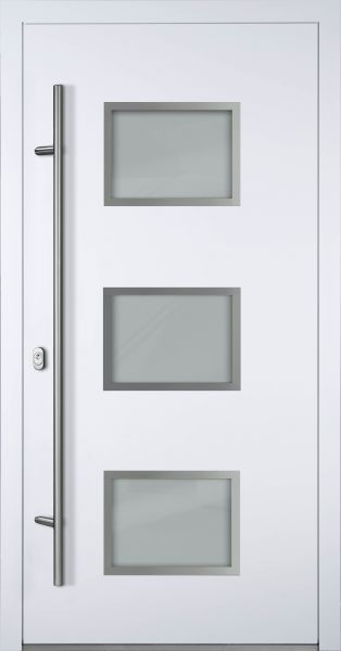 "Aluminium Haustür ""MARGARETE"" 90mm (Mit Edelstahlapplikationen) RC2"