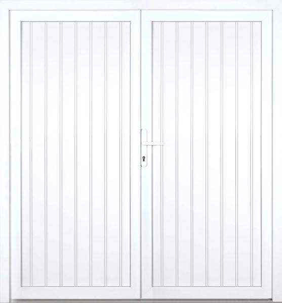 """Kunststoff Nebeneingangstür """"TANJA"""" 60mm 2-flügelig Doppeltür symmetrisch"""