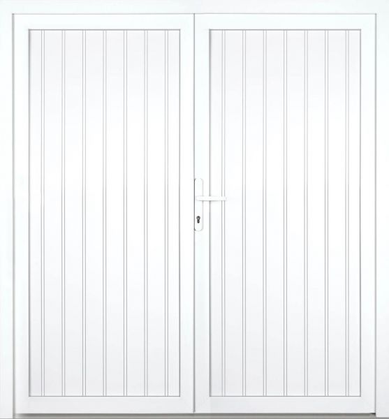 """Kunststoff Nebeneingangstür """"TAMARA"""" 70mm 2-flügelig Doppeltür symmetrisch"""