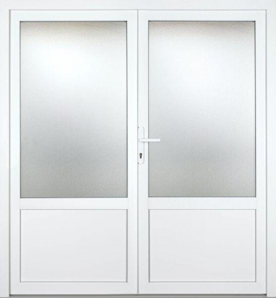 """Kunststoff Nebeneingangstür """"ANJA 2/3"""" 60mm 2-flügelig Doppeltür symmetrisch"""