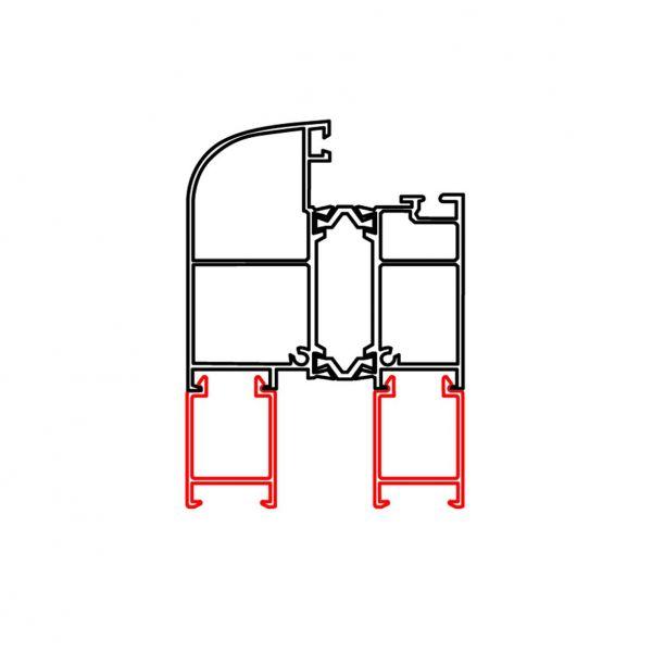 Rahmenverbreiterung für ALU-Türen der Stärke 60mm (21mm x 30mm) (Flexible Türmontage)