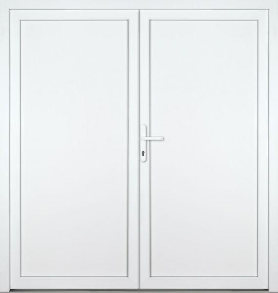 """Kunststoff Nebeneingangstür """"DIANA-M"""" 70mm 2-flügelig Doppeltür symmetrisch"""