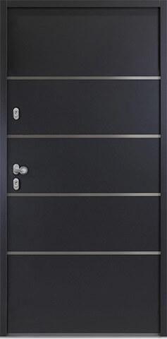 """Aluminium-Stahl Nebeneingangstür """"ARANJA"""" 56mm"""