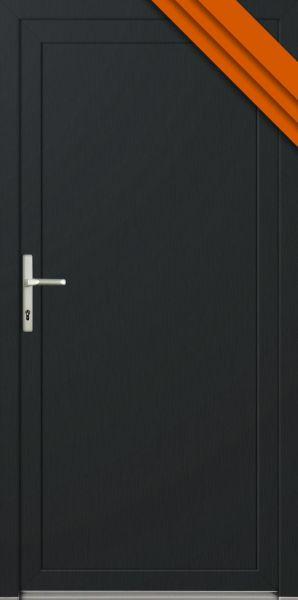 """AKTIONS-Nebeneingangstür """"DIANA"""" 60mm (85cm(B),201cm(H), Anthrazit außen,Weiß innen, DIN rechts auße"""