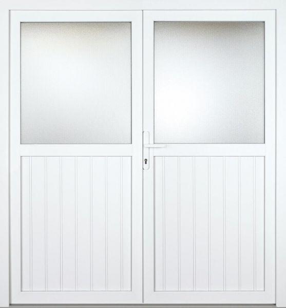 """Kunststoff Nebeneingangstür """"MELINA 1/2"""" 60mm 2-flügelig Doppeltür symmetrisch"""