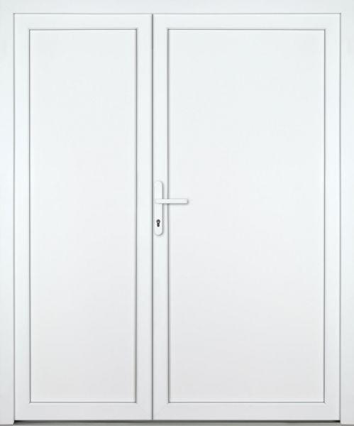 """Kunststoff Nebeneingangstür """"DIANA"""" 70mm 2-flügelig Doppeltür asymmetrisch"""