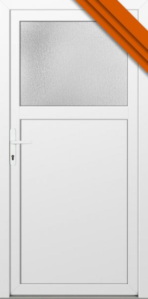 "AKTIONS-Nebeneingangstür ""ANTONIA"" 60mm (97cm(B),105cm(H), Weiß beidseitig, DIN links innen, PVC)"