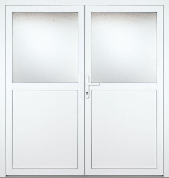 """Kunststoff Nebeneingangstür """"PAULA"""" 60mm 2-flügelig Doppeltür symmetrisch"""