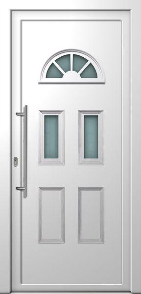 "AKTIONS-Haustür ""MADLEN"" 70mm (96cm(B),212cm(H), Weiß beidseitig, DIN links innen, PVC)"