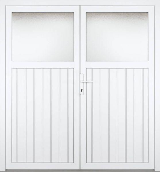 """Kunststoff Nebeneingangstür """"TAMARA 1/3"""" 70mm 2-flügelig Doppeltür symmetrisch"""