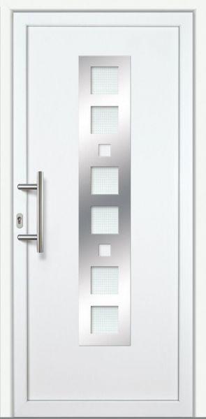 """Haustür """"LORANE"""" 60mm (PVC, weiß)"""