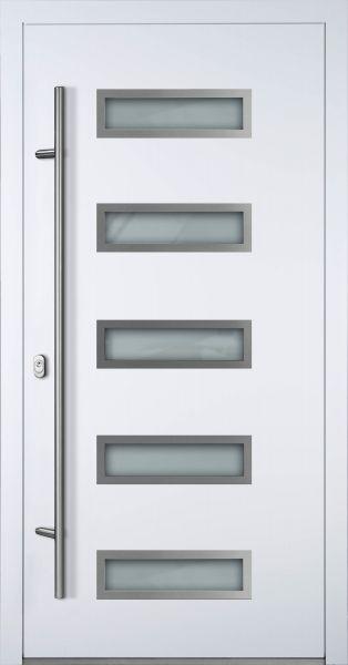 "Aluminium Haustür ""AGADA"" 90mm (Mit Edelstahlapplikationen) RC2"