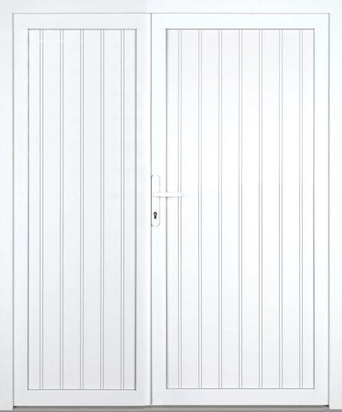 """Kunststoff Nebeneingangstür """"JESSIKA"""" 60mm 2-flügelig Doppeltür asymmetrisch"""