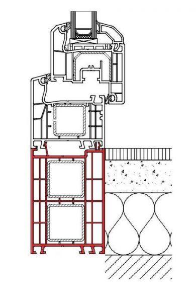 Rahmenverbreiterung für ALU Türen der Stärke 92mm (Flexible Türmontage)