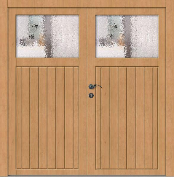 """Holz Nebeneingangstür """"JASPER"""" 62mm 2-flügelig Doppeltür symmetrisch (Schreiner-Qualität)"""