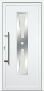 "Haustür ""LAURA"" 60mm (PVC, weiß)"