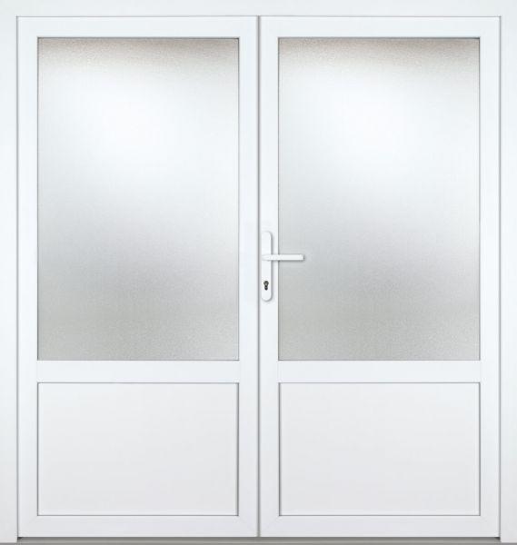 """Kunststoff Nebeneingangstür """"CELINE"""" 70mm 2-flügelig Doppeltür symmetrisch"""